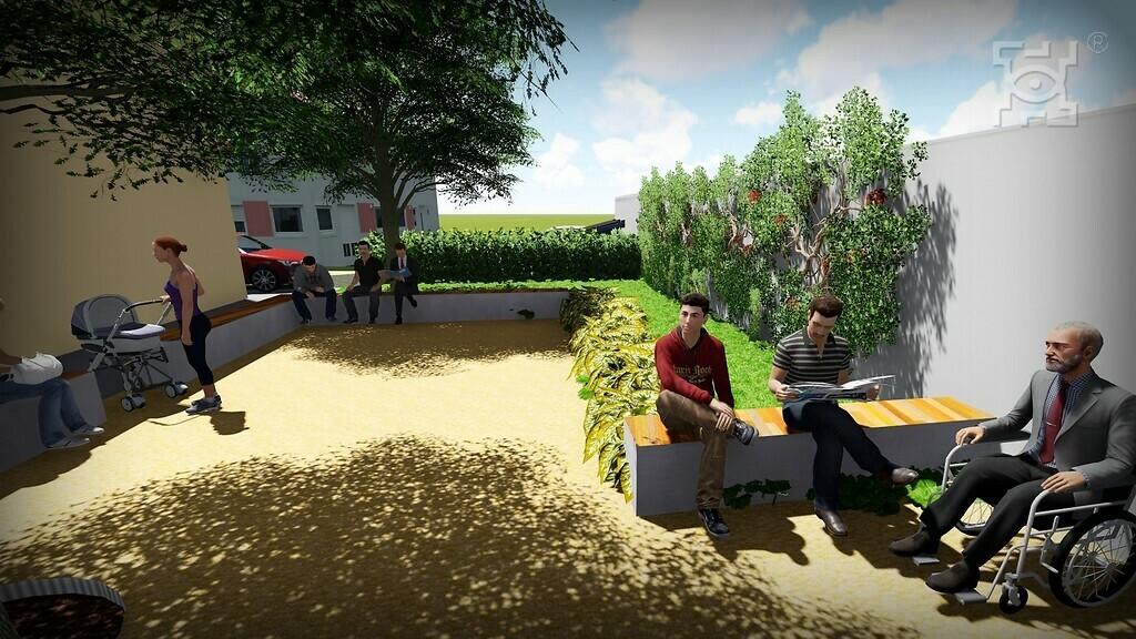 Miejsca Dla Ciebie - wizualizacja zagospodarowania terenu zielonego przy ul. Chmielarczyka