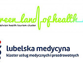logos of Lublin Medicine Cluster and Latvian Health Tourism Cluster