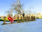 "sign ""I love Lublin"" in Litewski Square"