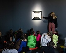 Classes for children in the art gallery.