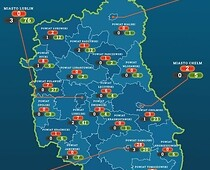 Coronovirus map in Lublin region May, 21