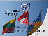 Poster of the 4th anniversary of the Lithuanian-Polish-Ukrainian Brigade