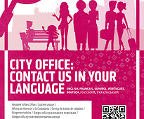 Communication pier poster - contact us in your language!