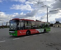 An electric bus in Lublin
