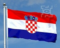 The national flag of Croatia...