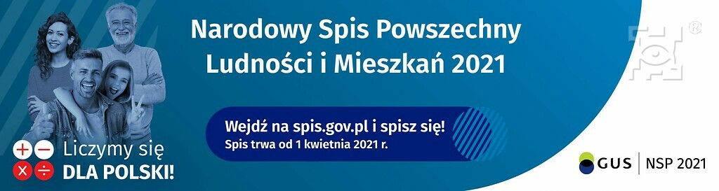 Narodowy Spis Powszechny 2021 - baner