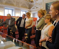 Presentation of the original records – the Act of the Union of Lublin document.