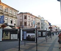 """European Heritage Label"" on display at the Lublin promenade."