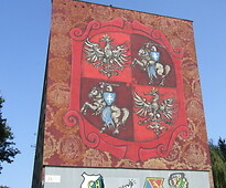 Polonia-Lituania mural in its full glory.