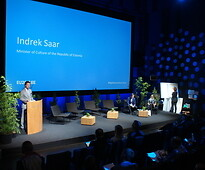 Mr Indrek Saar, Minister of Culture of the Republic of Estonia, kick-starting the...