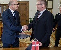 Mr Krzysztof Żuk, Mayor of Lublin and Mr Arne Boelt, Mayor of Hjørring
