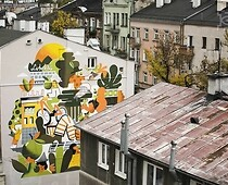 Photo 4: the wall mural of Lubartowska 69 inspired by the Lublin cider and the...