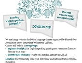 Free Polish lessons for foreigners! Foto