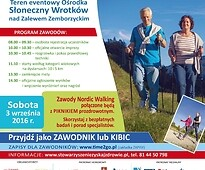 Plakat o nordic walking