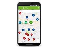 Aplikacja Turystyczny Lublin - widok mapy