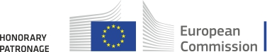 logo of the European Commission, description on the left: Honorary Patronage