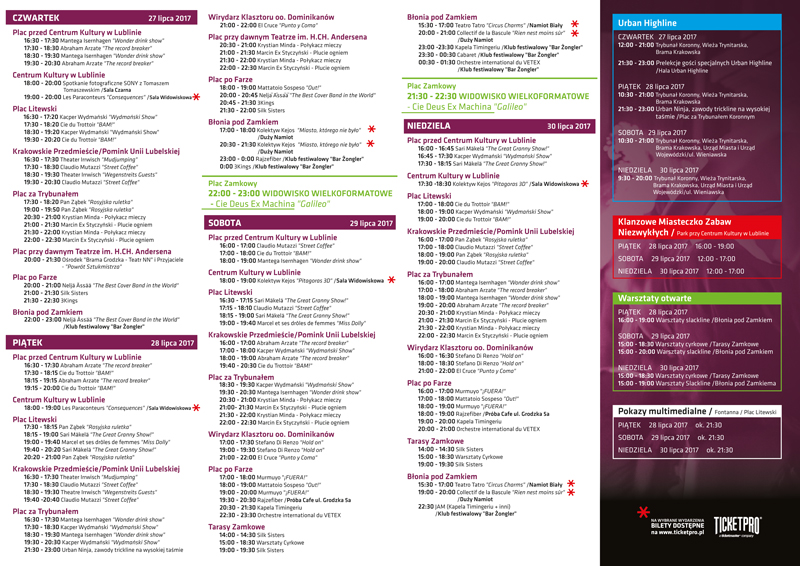 Program z atrakcjami CSM 2017