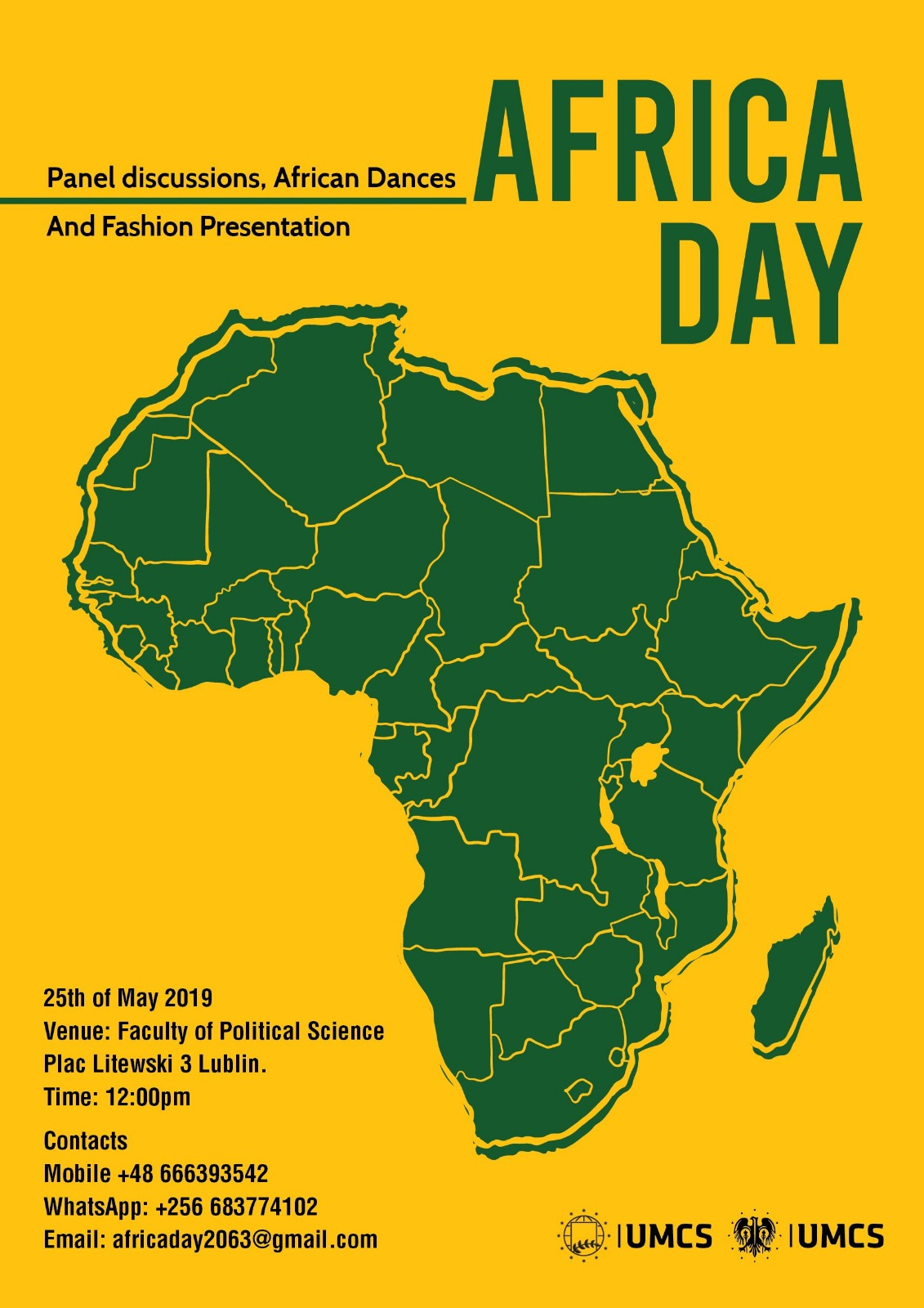 Africa Day. Panel discussions, African Dances and Fashion Presentation